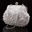 cheap Bracelets-Women's Bags Special Material Evening Bag Rhinestone / Chain White / Black / Beige