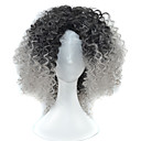 cheap Synthetic Capless Wigs-Synthetic Wig Curly Asymmetrical Haircut Synthetic Hair Natural Hairline Black Wig Women's Short / Medium Length Capless