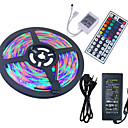 cheap LED String Lights-HKV 5m Light Sets 300 LEDs 3528 SMD RGB Remote Control / RC / Cuttable / Waterproof 100-240 V / IP65 / Self-adhesive