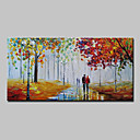 cheap People Paintings-Oil Painting Hand Painted - Landscape Abstract Modern Canvas