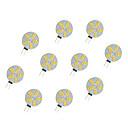 preiswerte LED Doppelsteckerlichter-10 Stück 2.5 W LED Doppel-Pin Leuchten 220 lm G4 15 LED-Perlen SMD 5630 Warmes Weiß Weiß 12 V