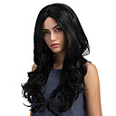 cheap Synthetic Capless Wigs-Synthetic Wig Wavy Synthetic Hair Black Wig Women's Long Capless