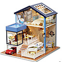 cheap Dolls Accessories-CUTE ROOM Model Building Kit DIY House Plastics Classic Pieces Unisex Gift