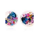 cheap Earrings-Women's Geometric Earring Back / Clip Earrings / Ball Earrings - Resin Dainty, Simple Style, Fashion Blue / Rainbow / Royal Blue For Date / Street / Birthday Party