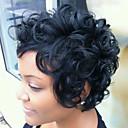 Χαμηλού Κόστους Χωρίς κάλυμμα-Φυσικά μαλλιά Σγουρά Κλασσικά Υψηλή ποιότητα Μηχανοποίητο Περούκα Καθημερινά