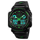 levne Vojenské hodinky-SKMEI Pánské Náramkové hodinky Digitální hodinky japonština Křemenný Z umělé kůže Černá 50 m Voděodolné Alarm Kalendář Analog - Digitál Módní - Červená Zelená Modrá Dva roky Životnost baterie