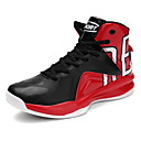 cheap Men's Sneakers-Men's Faux Leather Fall / Winter Comfort Athletic Shoes Basketball Shoes Black / Red / Black / Red