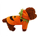 cheap Pet Christmas Costumes-Dog Costume / Christmas Dog Clothes Solid Colored Orange Plush Fabric Costume For Pets Cosplay / Halloween
