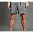 זול בגדי ריצה-WOSAWE בגדי ריקוד גברים יחידה 1 שורט לריצה / שורט מפוצל לריצה - אפור ספורט מכנסיים קצרים כושר וספורט, חדר כושר, להתאמן לבוש אקטיבי כושר, ריצה ויוגה, ייבוש מהיר, נושם סטרצ'י (נמתח)