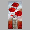 cheap Oil Paintings-Oil Painting Hand Painted - Floral / Botanical Artistic Stretched Canvas