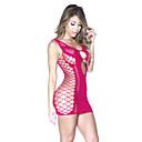 זול שרשרת אופנתית-בגדי ריקוד נשים אולטרה סקסי Nightwear - רשת חור, אחיד