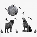 cheap Wall Stickers-Landscape Animals Fashion Wall Stickers Plane Wall Stickers Decorative Wall Stickers 3D, Plastic Home Decoration Wall Decal Wall Window