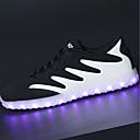 abordables Zapatillas de Hombre-Hombre Iluminar los zapatos PU Primavera / Otoño Zapatillas de Atletismo Paseo Negro y Oro / Negro / blanco