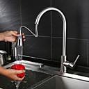 billige Vandhaner til badeværelset-Køkken Vandhane Nikkel Børstet Centersat Moderne / Moderne Stil / Messing