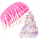 billige Bakeformer-Bakeware verktøy silica Gel baking Tool / 3D / Kreativ Kjøkken Gadget Dagligdags Brug 3D Cake Moulds 1pc