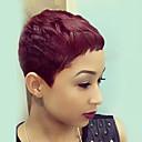 tanie Bez czepka-Peruki bez czepka z naturalnych włosów Włosy naturalne Prosta / Klasyczny / Naturalne fale Tkany maszynowo Peruka Damskie Codzienny
