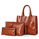 cheap Bag Sets-Women's Bags PU Bag Set for Casual Red / Gray / Brown