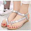 preiswerte Damen Sandalen-Damen PU Sommer Komfort Sandalen Silber