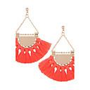 cheap Earrings-Women's Drop Earrings - Tassel Wine / Depression Green / Rainbow For Wedding / Party / Daily
