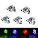 olcso LED okos izzók-YWXLIGHT® 5pcs 2.5 W 250 lm E14 / GU10 / E26 / E27 1 LED gyöngyök Nagyteljesítményű LED Tompítható / Távvezérlésű / Dekoratív RGB 85-265 V / 5 db. / RoHs