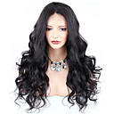 cheap Keyboard Accessories-Remy Human Hair Glueless Lace Front / Lace Front Wig Wavy / Body Wave Wig 150% / 180% Natural Hairline / African American Wig / 100% Hand Tied Women's Medium Length / Long Human Hair Lace Wig