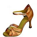 olcso Latin cipők-Női Latin cipők Selyem Szandál Csat Tűsarok Személyre szabható Dance Shoes Bíbor / Barna / Sötétbarna / Teljesítmény / Bőr