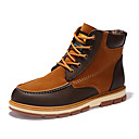cheap Men's Boots-Men's Fashion Boots Nubuck leather / Fleece Fall / Winter Comfort Boots Mid-Calf Boots Black / Yellow / Blue