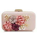 cheap Clutches & Evening Bags-Women's Bags Polyester Evening Bag Rhinestone / Petal / Satin Flower White / Black / Blushing Pink