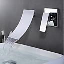 olcso Asztali lámpák-Fürdőszoba mosogató csaptelep - Vízesés Króm Fali Egy fogantyú két lyukat