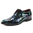 halpa Miesten Oxford-kengät-Miesten kengät Kiiltonahka Kesä / Syksy Comfort / Valopohjat Oxford-kengät Kävely Purppura / Sininen / Juhlat / Oxfords-painatus