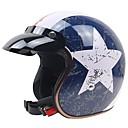 baratos Capacetes e Máscaras-Meio Capacete Adulto Unisexo Capacete de Motociclista Anti-Derrapagem / Resistente ao Impacto / Durável