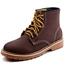 cheap Men's Boots-Men's Combat Boots Nappa Leather Fall / Winter Motorcycle Boots Boots Booties / Ankle Boots Coffee / Light Brown / Party & Evening