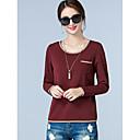 billige Brudesjaler-Bomull T-skjorte Dame - Ensfarget