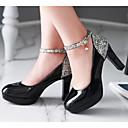 cheap Women's Heels-Women's Shoes PU(Polyurethane) Fall Comfort Heels Black / Beige / Pink