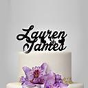 זול אומנות ממוסגרת-קישוטים לעוגה נושא קלאסי / חתונה פלסטי חתונה / יוֹם הַשָׁנָה עם 1 pcs תיק פולי