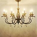 baratos Lustres-8-luz Lustres Luz Ambiente Acabamentos Pintados Metal Cristal, Estilo Vela 110-120V / 220-240V Lâmpada Não Incluída / E12 / E14