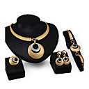 cheap Jewelry Sets-Women's Jewelry Set - Rhinestone, Gold Plated Personalized, Fashion Include Pendant Necklace Gold For Party / Evening Party / Stage