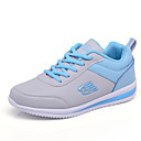 cheap Women's Sneakers-Women's Shoes Leatherette Spring / Fall Comfort Athletic Shoes Walking Shoes Platform Round Toe Lace-up Black / Gray / Blue