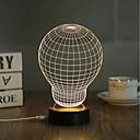 olcso Asztali dekor lámpa-1set 3D éjszakai fény USB Kreatív / Biztonság / Díszítmény 5 V