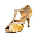 hesapli Dans kostümleri-Kadın's Dans Ayakkabıları Yapay Deri Latin Dans Ayakkabıları Toka Sandaletler / Spor Ayakkabı Stiletto Topuk Kişiselleştirilmiş Leopar / Çıplak / Profesyonel