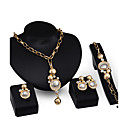 cheap Jewelry Sets-Women's Jewelry Set - Imitation Pearl, Gold Plated Personalized, Fashion Include Pendant Necklace Gold For Party Engagement