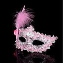 ieftine Ornamente de Nuntă-1pc tricou de păr mic pentru părul costumului de Halloween aurul plat auriu mascaradă mască pene pictura masca partid machiaj mic prințesă