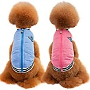 cheap Dog Clothes-Cat Dog Coat Vest Dog Clothes Solid Colored Blue Pink Cotton/Linen Blend Costume For Pets Party Casual/Daily Keep Warm Sports