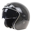 baratos Capacetes e Máscaras-Meio Capacete Rapidez Durável Resistente ao Impacto Fibra de Carbono + EPS capacetes para motociclistas
