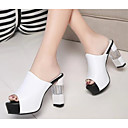 baratos Sandálias Femininas-Mulheres Sapatos Couro Ecológico Verão Conforto / Plataforma Básica Sandálias Branco