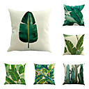 cheap Hair Care-6 pcs Cotton / Linen Pillow Cover / Pillow Case, Botanical / Novelty / Classic Classical / Retro / Traditional / Classic