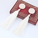 cheap Girls' Dresses-Women's Tassel Drop Earrings - Tassel, Fashion Red / Green / Pink For Daily / Casual