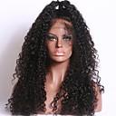 olcso Okosórák-Luffy Hair Emberi haj Csipke eleje Paróka Kinky Curly Paróka 150% Haj denzitás Természetes hajszálvonal Afro-amerikai paróka 100% kézi csomózású Női Közepes Hosszú Emberi hajból készült parókák