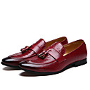 cheap Men's Slip-ons & Loafers-Men's Formal Shoes Microfiber Spring / Fall Casual Loafers & Slip-Ons Black / Red / Tassel / Party & Evening / Tassel / Party & Evening / Outdoor