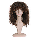 cheap Synthetic Capless Wigs-Synthetic Wig Women's Curly Brown Synthetic Hair African American Wig Brown Wig Long Capless Brown